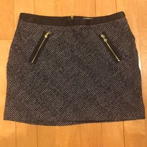 Express Tweed Mini Skirt